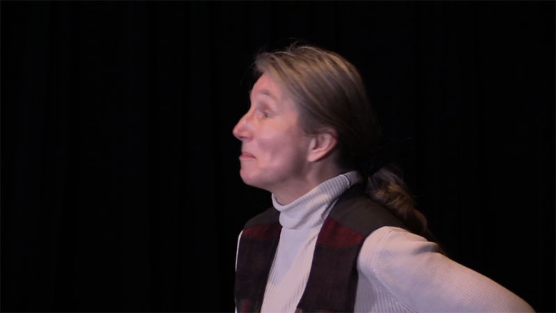 "Jenny Holan as Lewis Carroll's ""Father William"""